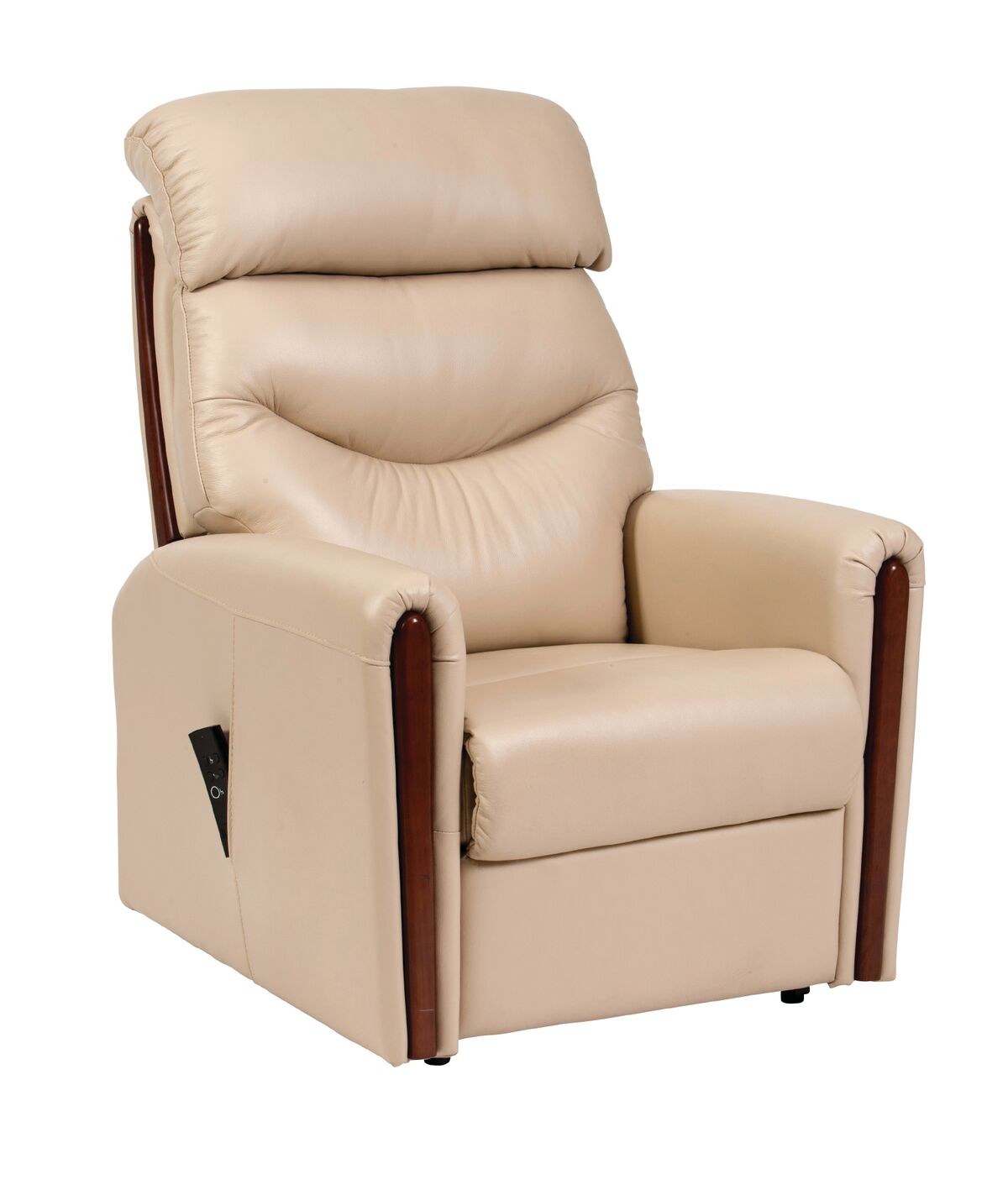 Leather Dual Motor Riser Recliner - Available to see in Menai Bridge & Valley