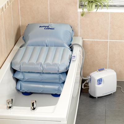 Inflatable Bathing Cushion - Available in Menai Bridge and Valley for demonstration